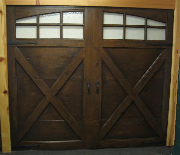 Central utah door projects Garage door faux wood